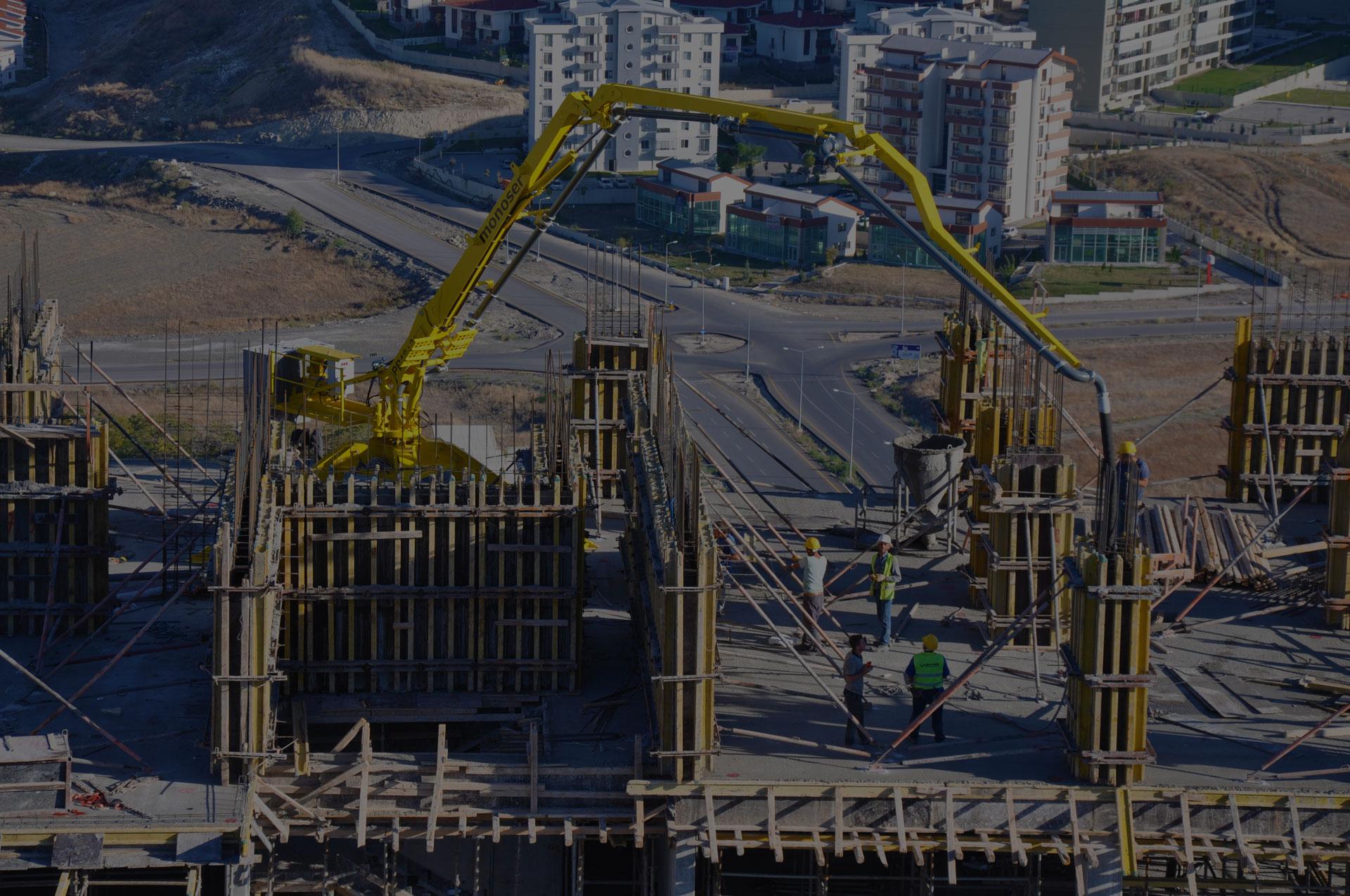 monoser PB18 concrete placing boom