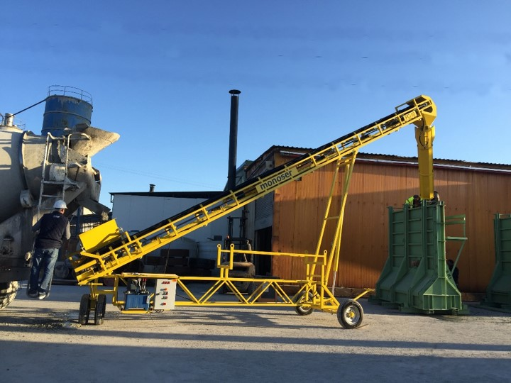 concrete conveyor systems for concrete transfer 1