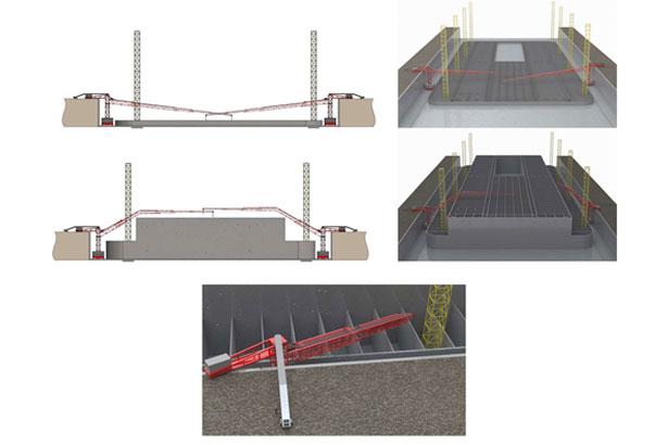 custom designs concrete belt conveyor systems