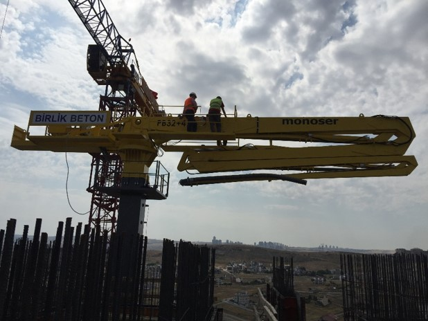 hydraulic concrete distributors with climbing mast 4