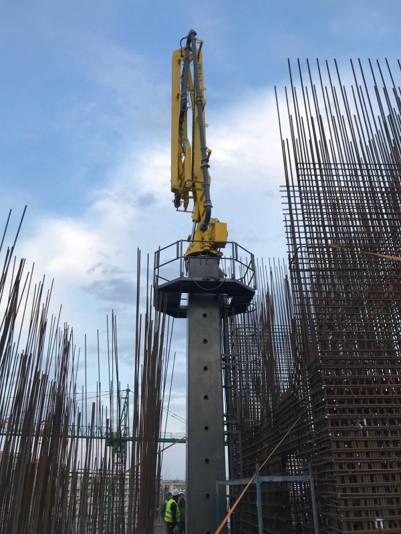 hydraulic concrete distributors with climbing mast 7