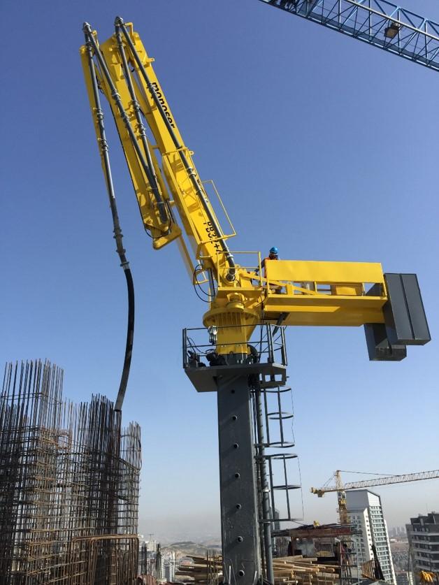 hydraulic concrete distributors with climbing mast 8