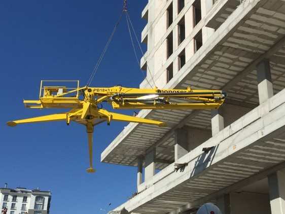 hydraulic portable concrete distributors 10